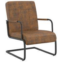 vidaXL Konzolová židle hnědá textil