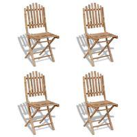 vidaXL Skládací zahradní židle 4 ks bambus