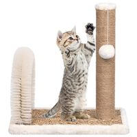 vidaXL Cat Tree with Arch Grooming Brush and Scratch Post
