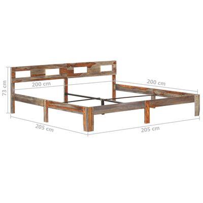 vidaXL Rám postele masivní sheeshamové dřevo 200 x 200 cm