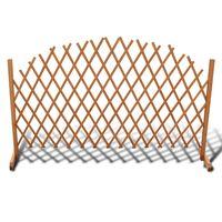 vidaXL Trelážový plotový dílec masivní dřevo 180 x 100 cm