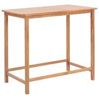 vidaXL Zahradní barový stůl 120 x 65 x 110 cm masivní teakové dřevo