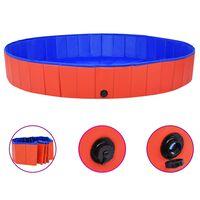 vidaXL Skládací bazén pro psy červený 200 x 30 cm PVC
