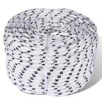 vidaXL Splétané lodní lano z polyesteru 6 mm 250 m bílé