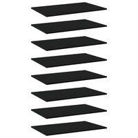 vidaXL Přídavné police 8 ks černé 80 x 50 x 1,5 cm dřevotříska