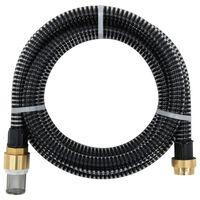vidaXL Sací hadice s mosaznými konektory 25 m 25 mm černá