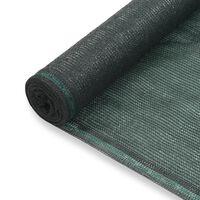 vidaXL Tenisová zástěna zelená 1,6 x 50 m HDPE