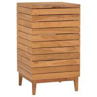 vidaXL Koš na prádlo 40 x 40 x 70 cm masivní teakové dřevo