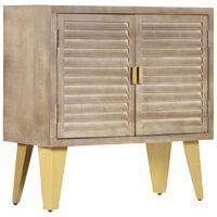 vidaXL Příborník 80 x 35 x 80 cm masivní mangovníkové dřevo a litina