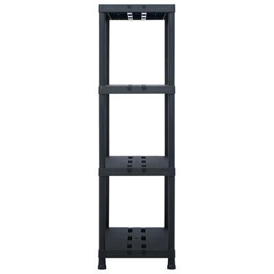 vidaXL Skladový regál černý 220 kg 90 x 40 x 138 cm plastový