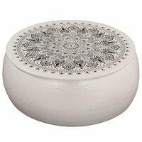 vidaXL Konferenční stolek bílý 70 x 30 cm tlučený hliník