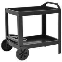 vidaXL Nápojový vozík antracitový 69 x 53 x 72 cm plast