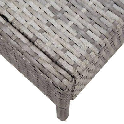 vidaXL 5dílná zahradní sedací souprava s poduškami polyratan šedá