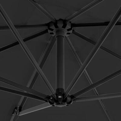 vidaXL Konzolový slunečník s hliníkovou tyčí 250 x 250 cm antracitový