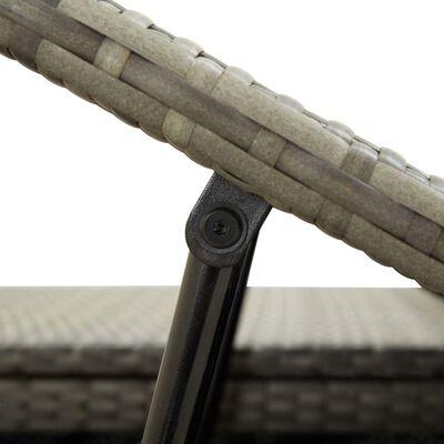 vidaXL 2místné zahradní lehátko s poduškou šedé polyratan
