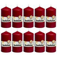 Bolsius Válcové svíčky 10 ks 120 x 58 mm vínové