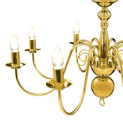vidaXL Lustr zlatý 8 x žárovky E14