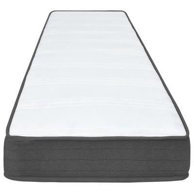 vidaXL Postel boxspring tmavě šedá textil 200 x 200 cm