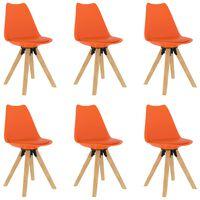vidaXL Jídelní židle 6 ks oranžové