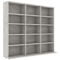 vidaXL Skříňka na CD betonově šedá 102 x 23 x 89,5 cm dřevotříska