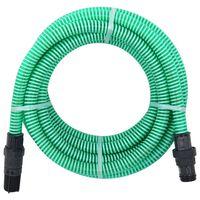 vidaXL Sací hadice s PVC konektory 10 m 22 mm zelená