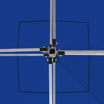 vidaXL Profesionální skládací party stan hliník 3 x 3 m modrý, Blue