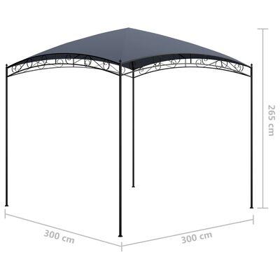vidaXL Altán 3 x 3 x 2,65 m antracitový 180 g/m²