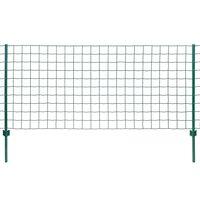 vidaXL Euro plot ocel 20 x 1,5 m zelený