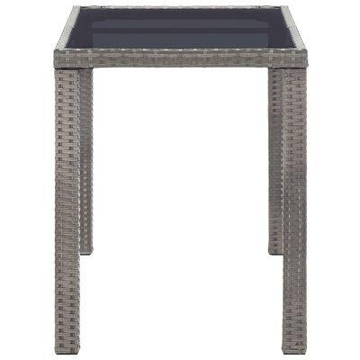 vidaXL Zahradní stůl antracitový 123 x 60 x 74 cm polyratan