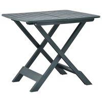 vidaXL Skládací zahradní stůl zelený 79 x 72 x 70 cm plast
