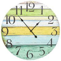 vidaXL Nástěnné hodiny vícebarvené 60 cm MDF