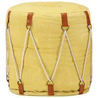 vidaXL Sedací puf žlutý 40 x 40 cm bavlněné plátno
