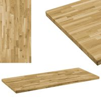 vidaXL Stolní deska masivní dubové dřevo obdélníková 44 mm 120 x 60 cm