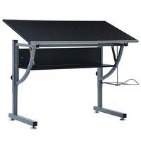 vidaXL Studentský kreslící stůl černý 110 x 60 x 87 cm MDF