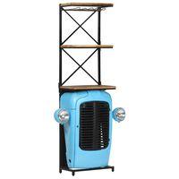 vidaXL Stojan na víno traktor modrý 49 x 31 x 170 cm masivní mangovník