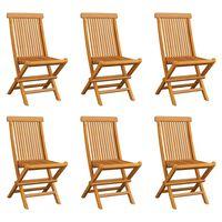 vidaXL Skládací zahradní židle 6 ks masivní teak