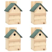 vidaXL Bird Houses 4 pcs 23x19x33 cm Firwood
