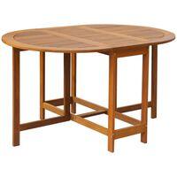vidaXL Zahradní stůl 130 x 90 x 72 cm masivní akáciové dřevo