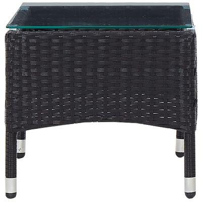vidaXL Konferenční stolek černý 60 x 40 x 36 cm polyratan, Černý