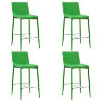 vidaXL Barové stoličky 4 ks zelené umělá kůže