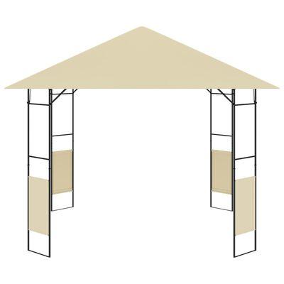 vidaXL Zahradní altán 3 x 3 x 2,6 m krémový 160 g/m²