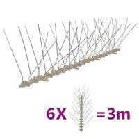 vidaXL 4řadové plastové hroty proti ptákům a holubům sada 6 ks 3 m