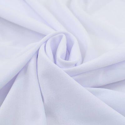 vidaXL Rautové sukně s řasením 2 ks bílé 120 x 60,5 x 74 cm