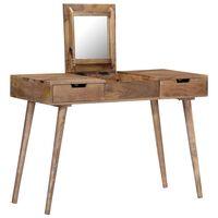 vidaXL Toaletní stolek 112 x 45 x 76 cm masivní mangovníkové dřevo
