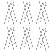 vidaXL Skládací nohy ke stolu 6 ks stříbrné 45x55x112 pozinkovaná ocel