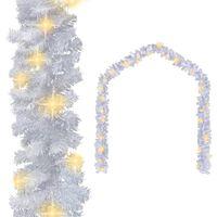 vidaXL Vánoční girlanda s LED světélky 10 m bílá