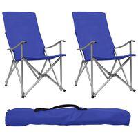 vidaXL Skládací kempingové židle 2 ks modré