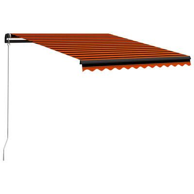 vidaXL Ručně zatahovací markýza 350 x 250 cm oranžovo-hnědá
