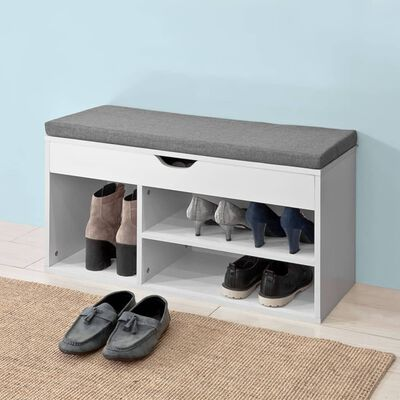SoBuy FSR45-HG Lavička na nazouvání bot se sedákem lavička na sezení