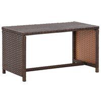 vidaXL Konferenční stolek hnědý 70 x 40 x 38 cm polyratan